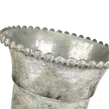 Vitale Margari Gümüş Metal Vazo Renkli